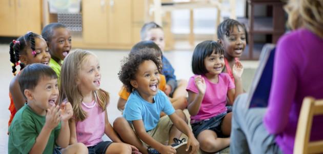 Pre-schoolers in classroom